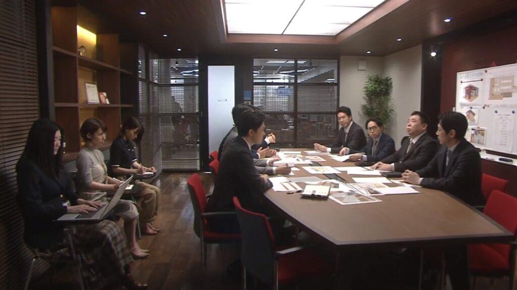 営業企画課の会議